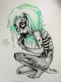 Zombie Drawings, Living Dead Girl by Super-Chi