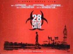 28 Day Later Movie Poster, Zombie Movie