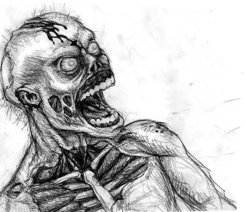 Zombie Drawings, Gruesome Zombie by Oupazas