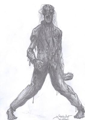 Zombie by Joshua Aschenbrenner, zombie drawings
