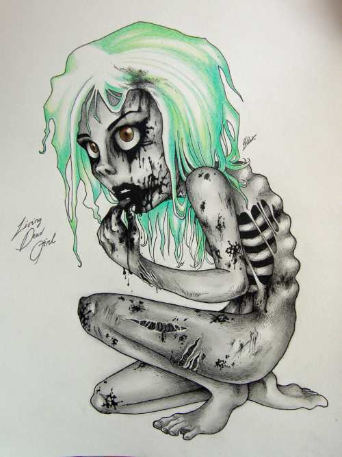 Zombie Drawings, Living Dead Girl by Super-Chi, Cristina Marin