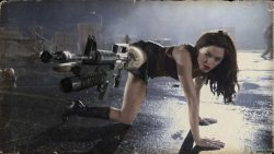 rose mcgowan leg shot, zombie movies