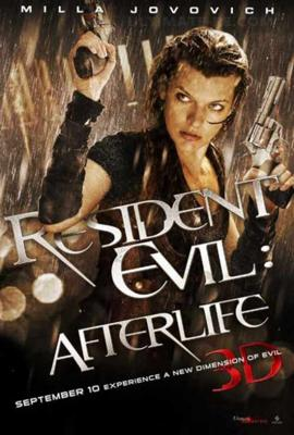 Resident Evil Afterlife movie poster, zombie movies