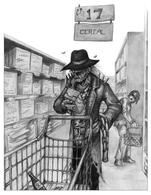 Zombie Shop by Chris Malidore, zombie drawings