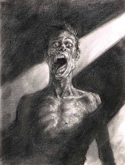 zombie ajar by richard pace, zombie drawings
